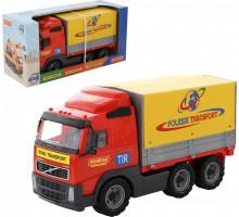 Детская игрушка автомобиль бортовой тентовый (в коробке) Volvo арт. 9548. Полесье