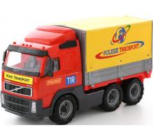 Детская игрушка автомобиль бортовой тентовый (в сеточке) Volvo арт. 8763. Полесье