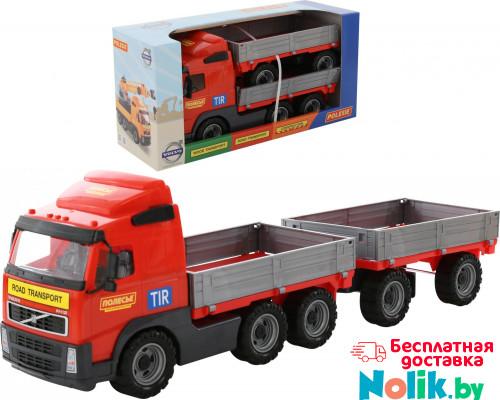 Детская игрушка автомобиль бортовой с прицепом (в коробке) Volvo арт. 9722. Полесье в Минске