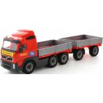 Детская игрушка автомобиль бортовой с прицепом (в сеточке) Volvo арт. 9487. Полесье