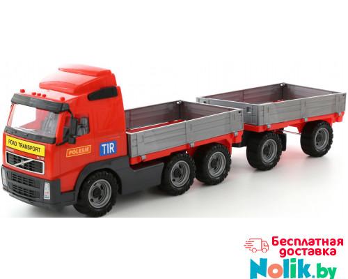 Детская игрушка автомобиль бортовой с прицепом (в сеточке) Volvo арт. 9487. Полесье в Минске