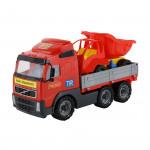 Детская игрушка автомобиль бортовой + автомобиль-самосвал (в сеточке) Volvo арт. 9470. Полесье