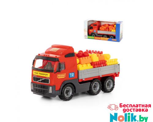 Детская игрушка автомобиль бортовой + конструктор Супер-Микс - 60 элементов (в коробке) Volvo арт. 9739. Полесье в Минске