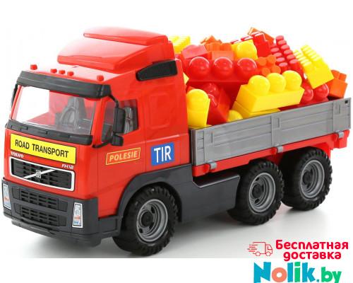 Детская игрушка автомобиль бортовой + конструктор Супер-Микс - 60 элементов (в сеточке) Volvo арт. 9456. Полесье в Минске
