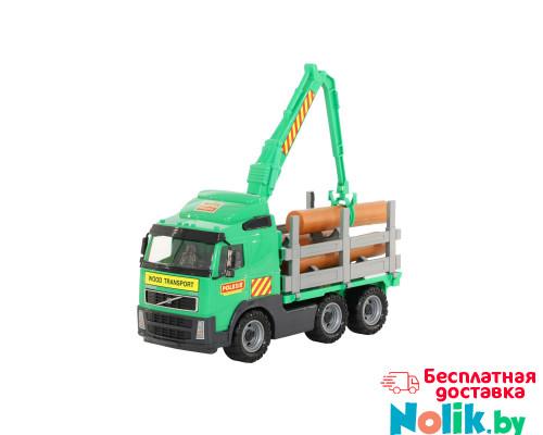 Детская игрушка автомобиль-лесовоз (в сеточке) Volvo арт. 8756. Полесье в Минске