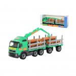 Детский автомобиль-лесовоз с прицепом (в коробке) Volvo арт. 9500. Полесье