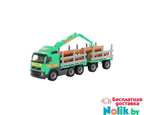 Детская игрушка автомобиль-лесовоз с прицепом (в сеточке) Volvo арт. 8725. Полесье в Минске