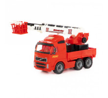 Детская игрушка автомобиль пожарный (в сеточке) Volvo арт. 8787. Полесье