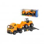 Детская игрушка автомобиль-трейлер + трактор-погрузчик (в коробке) Volvo арт. 9616. Полесье