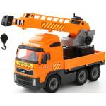 Детская игрушка автомобиль-кран с поворотной платформой (в сеточке) Volvo арт. 8824. Полесье