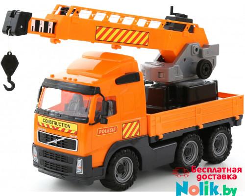 Детская игрушка автомобиль-кран с поворотной платформой (в сеточке) Volvo арт. 8824. Полесье в Минске