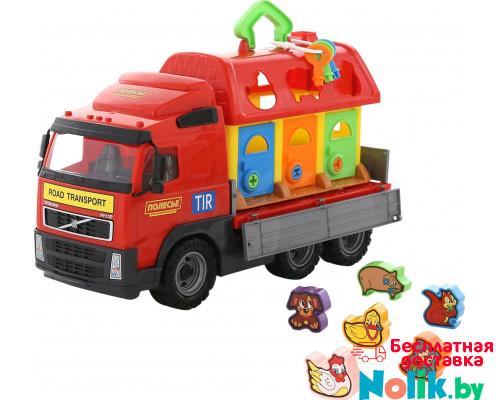 Детская игрушка автомобиль бортовой + домик для зверей (в сеточке) Volvo арт. 1442. Полесье в Минске