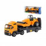 Детская игрушка автомобиль-трейлер + дорожный каток (в коробке) Volvo арт. 9630. Полесье