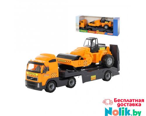 Детская игрушка автомобиль-трейлер + дорожный каток (в коробке) Volvo арт. 9630. Полесье в Минске