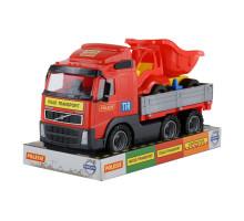 Детская игрушка автомобиль бортовой +  автомобиль-самосвал (в лотке) Volvo арт. 58232. Полесье