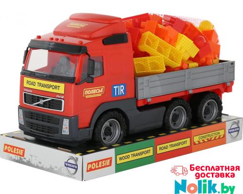 Детская игрушка автомобиль бортовой + конструктор Супер-Микс - 60 элементов (в лотке) Volvo арт. 58249. Полесье в Минске