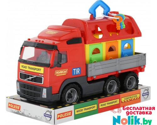 Детская игрушка автомобиль бортовой + домик для зверей (в лотке) Volvo арт. 58263. Полесье в Минске