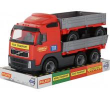 Детская игрушка автомобиль бортовой с прицепом (в лотке) Volvo арт. 58270. Полесье