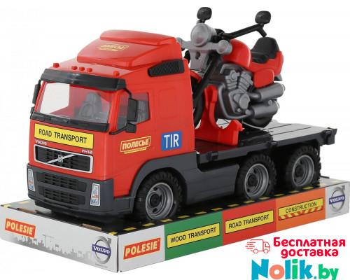 Детская игрушка автомобиль-платформа + мотоцикл гоночный Байк (в лотке) Volvo арт. 58362. Полесье в Минске