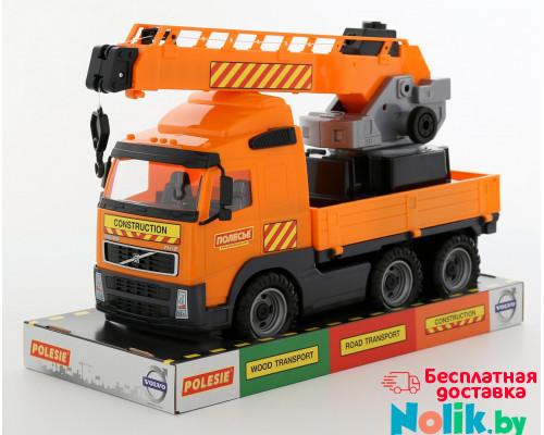 Детская игрушка автомобиль-кран с поворотной платформой (в лотке) Volvo арт. 58324. Полесье в Минске