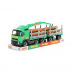 Детская машинка-лесовоз с прицепом (в лотке) Volvo арт. 58348. Полесье