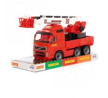 Детская игрушка автомобиль пожарный (в лотке) Volvo арт. 58386. Полесье