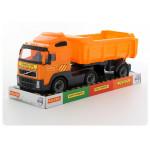 Детская игрушка автомобиль-самосвал с полуприцепом (в лотке) Volvo арт. 58393. Полесье
