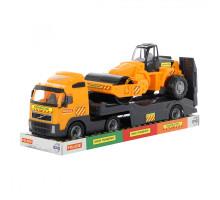 Детский автомобиль-трейлер + дорожный каток (в лотке) Volvo арт. 58416. Полесье