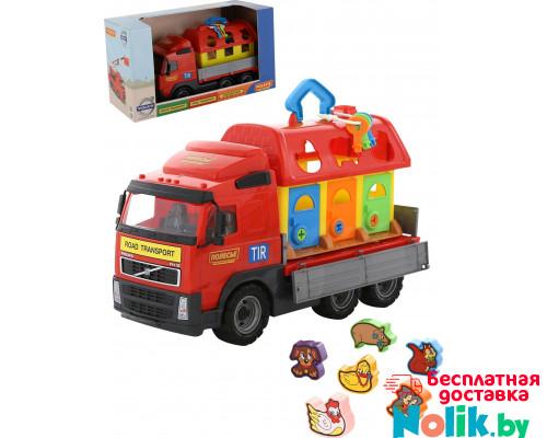 Детская игрушка автомобиль бортовой + домик для зверей (в коробке) Volvo арт. 58256. Полесье в Минске