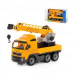 Детская игрушка автомобиль-кран с поворотной платформой (в коробке) Volvo арт. 58317. Полесье