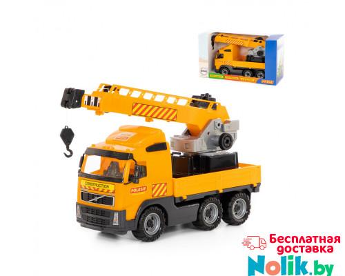 Детская игрушка автомобиль-кран с поворотной платформой (в коробке) Volvo арт. 58317. Полесье в Минске