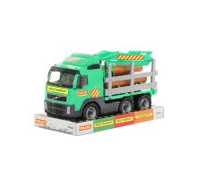 Детская игрушка автомобиль-лесовоз (в лотке) Volvo арт. 58331. Полесье
