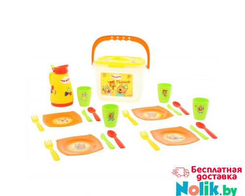Детская игрушка набор посуды для кукол Пикник ТРИ КОТА (21 элемент, в контейнере) арт. 72948 Полесье в Минске