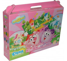 Детская игрушка конструктор Полесье Смешарики - Домики Нюши и Бараша (в коробке) арт. 9332 Полесье