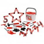 Детский игровой набор инструментов Смешарики - Пин код (132 элемента) (в ведёрке) арт. 70586 Полесье