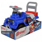 Детский автомобиль-каталка джип Marvel Мстители (в лотке). Арт. 70661 Полесье
