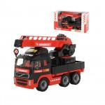 Детская игрушка автомобиль-кран с поворотной платформой MAMMOET VOLVO 203-02, (в коробке). Арт. 56986. Полесье