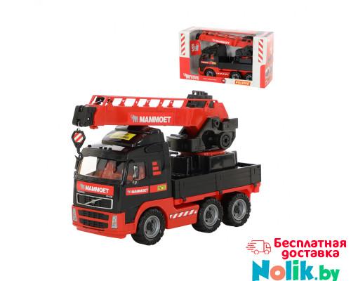 Детская игрушка автомобиль-кран с поворотной платформой MAMMOET VOLVO 203-02, (в коробке). Арт. 56986. Полесье в Минске