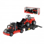 Детская игрушка автомобиль-трейлер + трактор-погрузчик MAMMOET 206-02, (в коробке). Арт. 57006. Полесье