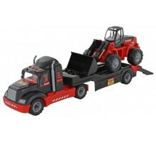 Игрушка машинка-трейлер + трактор-погрузчик MAMMOET 206-01. Арт. 56993. Полесье