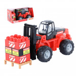 Автокар детский + конструктор (15 элементов) MAMMOET, (в коробке). Арт. 56856. Полесье