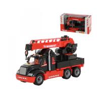 Игрушка детская автомобиль-кран с поворотной платформой MAMMOET 205-02, (в коробке). Арт. 56832. Полесье
