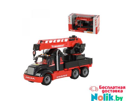 Игрушка детская автомобиль-кран с поворотной платформой MAMMOET 205-02, (в коробке). Арт. 56832. Полесье в Минске
