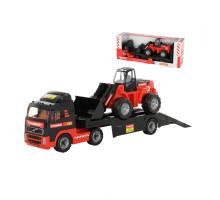 Детская машина-трейлер + трактор-погрузчик MAMMOET VOLVO 204-02, (в коробке). Арт. 56825. Полесье