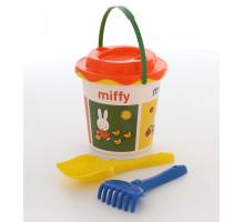 Ведерко детское с наклейкой (грабельки и лопатка)Миффи-1 набор №1. Арт. 64639 Полесье