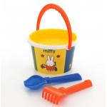 Детский песочный набор для детей ведро среднее с наклейкой Миффи-6 набор №1. Арт. 64837 Полесье
