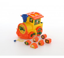Развивающая игрушка детская логический паровозик Миффи с 6 кубиками №1. Арт. 64240 Полесье