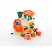 Детская развивающая игрушка логический паровозик Миффи с 6 кубиками №2. Арт. 64257 Полесье