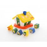 Детская развивайка логический домик Миффи с 6 кубиками №1. Арт. 64264 Полесье