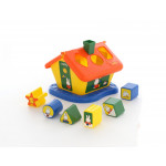 Развивайка детская логический домик Миффи с 6 кубиками №2. Арт. 64271 Полесье